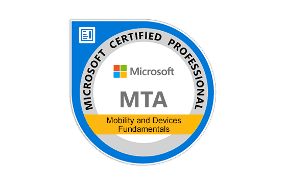 MTA: Mobility and Devices Fundamentals Exams
